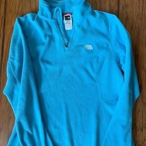 Blue north face pullover